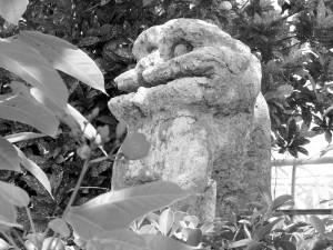 石彫魔除獅子