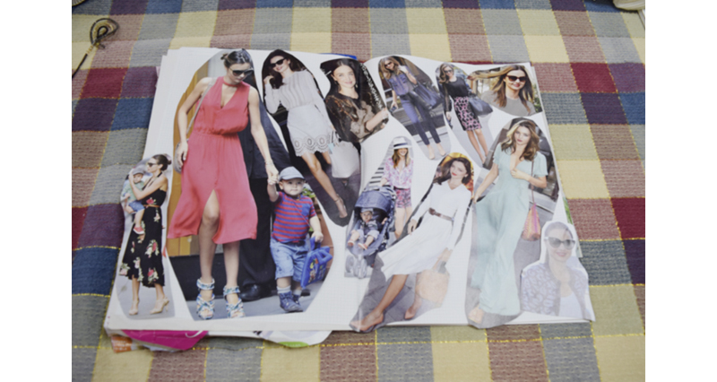 雑誌などを切り抜き、なりたいイメージをまとめたドリームマップ。手持ちの服を仕分ける際に役立つ