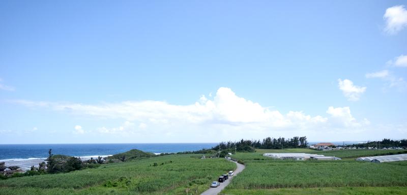 東シナ海を一望でき、天気によっては伊江島まで見える
