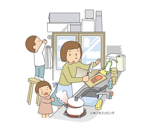 子どもが不安で、まとわりつく。母親のストレスも大