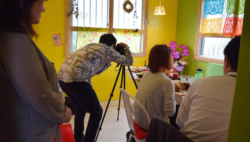 食楽サーチの撮影をしています。