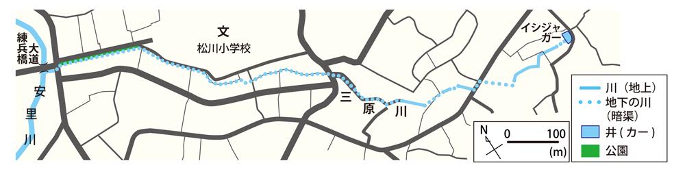 三原川周辺の地図