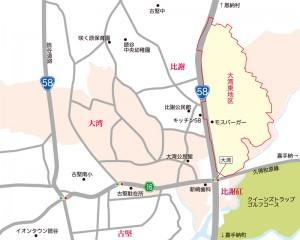 読谷村大湾地図
