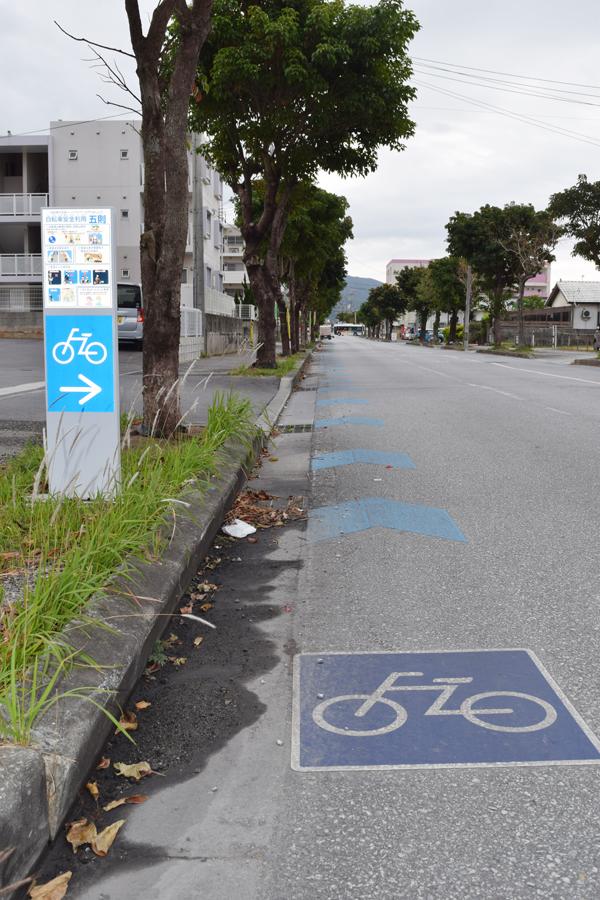 県内では珍しく、自転車用の道路が整備されている。県外からの移住者に人気のエリアというのもうなずける